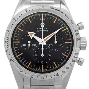 Omega Speedmaster 57 Trilogy 60th Anniversary 311-10-39-30-01-001 Chronograph Chronometer Back Scaling Men's Manual Winding Black Watch Wrist