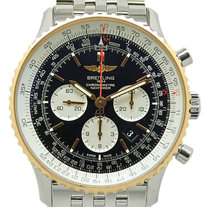 Breitling Navitimer 01 Ub0127 K18rg Bezel Chronometer Men's Automatic Backside Scale Black Type Wrist Watch