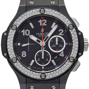 Hublot Big Bang Black Magic 301-cv-130-rx-114 Ti / Ceramic Diamond Bezel Back Scale Automaker Men's Case Watch Wrist
