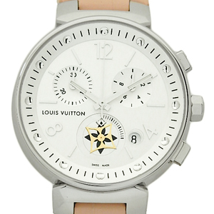Louis Vuitton Tambour Moonster Mm Bronche Q8g00 Chronograph Ladies' Quartz White Dial Watch