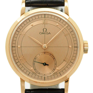 K18pg Omega Renaissance Cal.269 5950-30-03 100 Anniversary Limited Men's Hand Winding Back Scaled Gold Dial Plate Watch