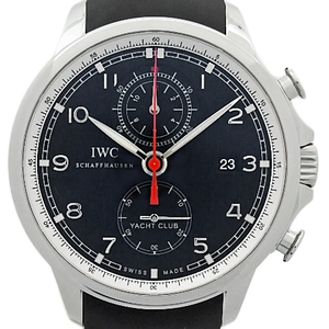 Iwc Portuguese Yacht Club Iw 390210 Chronograph Men's Automatic Flyback Back Scale Black Case Watch Wrist
