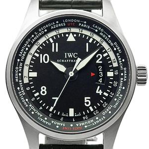 Iwc Pilot Watch World Timer Iw 326201 Men's Automatic Black Letter