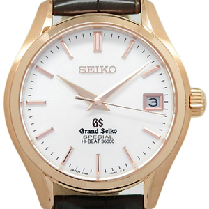 K18pg Seiko Gs Grand Mechanical High Beat 36000 Sbgh 022 Hi-beat Master Shop Limited Automatic Back Scale Men's Silver Dial Watch Wrist