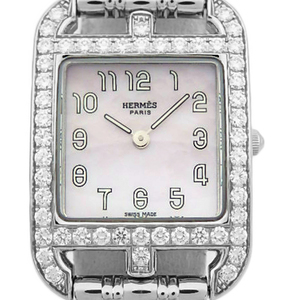 Hermes Cape Cod Diamond Bezel Cc1.230.219 Automatic Women's Pink Shell Dial Watch