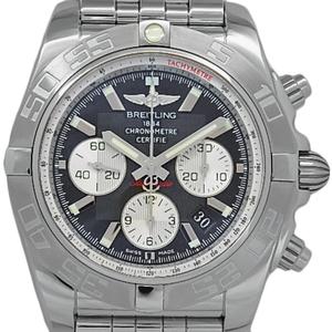 Breitling Chrono Mat 44 B01 Ab0110 Chronograph Men's Automatic Black Case Wrist Watch