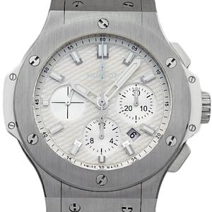 Hublot Big Bang White Jeans Chronograph 301 - Se 2710 Nr Wjj 14 Sg 669 Japan Only Men 'S Automatic Back Scale Dial Watch