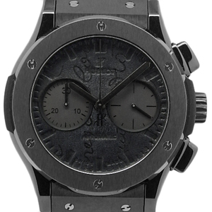 Hublot Classic Fusion Chronograph Berlotti Scratch All Black 521.cm.0500.vr.ber 17 250 Limited Edition Automatic Men's Back Scavellutti Venice Leather / Type Wrist Watch