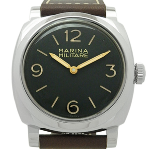 Panerai Radio Meal Reprint Marina Militare Attchio Pam00587 Men's Q No. Back Scale Hand Winding Black Dial Watch Wrist