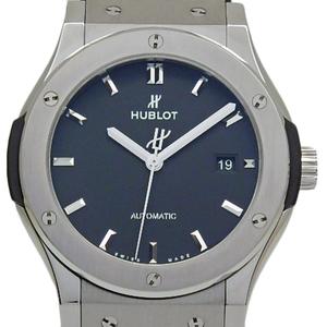 Hublot Classic Fusion Titanium 542-nx-1171-rx Automatic Men's Back Scale Black Case Wrist Watch