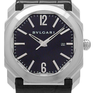 Bvlgari Bulgari Octop Bgo 41 S Back Scale Automatic Men's Black Case Watch Wrist