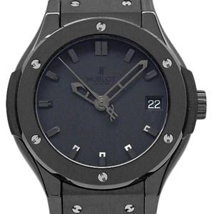 Hublot Classic Fusion 581-cm-1110-rx All Black Quartz Ladies Ti Ceramic Case Watch Wrist