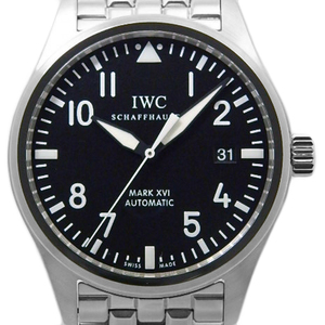 Iwc Pilot Watch Mark Xvi 16 Iw 325504 Mens Automa Black Letter Board Wrist