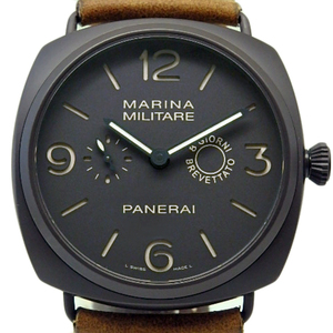 Panerai Radio Meal 8 Days Composite Marina Military Pam00339 Men's M Brown Dial Watch