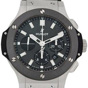 Hublot Big Bang Evolution 301-sm-1770-rx Men's Automatic Back Scale Carbon Dial Watch