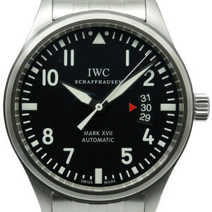 Iwc Pilot Watch Mark Xvii 17 Iw 326504 Mens Automa Black Letter Board Wrist