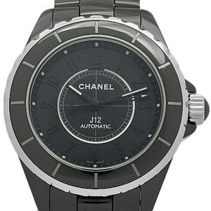 Chanel J12 H3829 Intense Black Ceramic Men's 38mm Automatic Case Watch Wrist