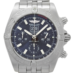 Breitling Chronomat Black Bird Chronometer A 44359 Chronograph Automatic Mens Character Watch Wrist
