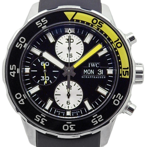 Iwc Aquatimer Aqua Timer Iw 376702 Chronograph Men's Automatic Black Letter Watch Wrist