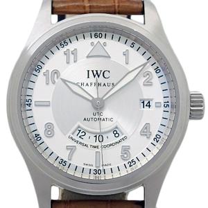 Iwc Spitfire Utc Iw 325110 Men's Automatic Silver Dial Watch