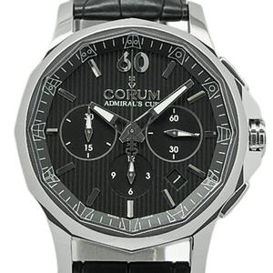 Corum Admiral's Capp Legend 42 Chronometer 984-101-20 Men's Automatic Backside Scale Black Dial Watch Wrist