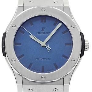 Hublot Classic Fusion Berlutti Titanium Ti 511 - Nx 050 B Vr Ber 16 500 Limited Edition Automatic Mens Back Scale Blue Dial Watch