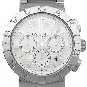 Bvlgari Chronograph Bb 42 Ss Ch Men's Automatic Silver Dial Plate Watch