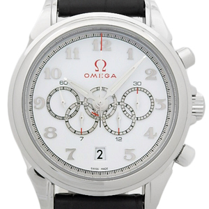 Omega Devil Specialties Olympic Collection Coraquarto 422-13-41-52-04-001 Automatic Mens Silver Dial Watch