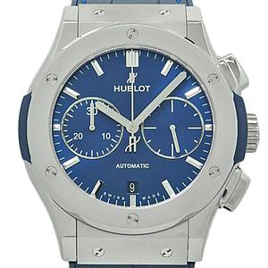 Hublot Classic Fusion Titanium Chronograph Ti 521 - Nx 7170 Lr Automatic Mens Back Scale Blue Dial Watch
