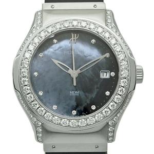Hublot Mdm Diamond 1910.1 11p Automatic Black Shell Dial Watch
