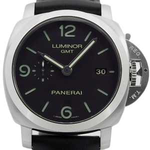 Panerai Luminol 1950 3 Days Gmt Pam00320 Men's Back Scale Automa O Number Black Case Watch Wrist
