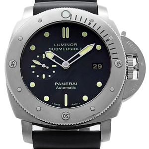 Panerai Luminor 47 1950 Submachible Pam00305 Men's Automatic O O. Back Scale Black Case Watch Wrist