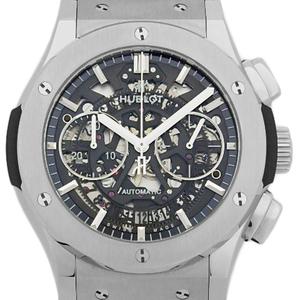 Hublot Classic Fusion Aero 525-nx-0170-lr Chronograph Ti Automata Men's Back Scale Skeleton Dial Watch
