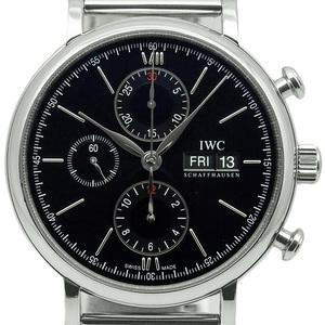 Iwc Port Finino Portofino Chronograph Iw391006 Men's Automatic Black Letter Watch
