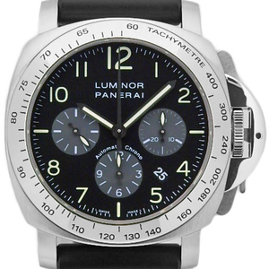 Panerai Luminor Chronograph Pam00162 Men's Automatic F / Gray Black Case Watch Wrist