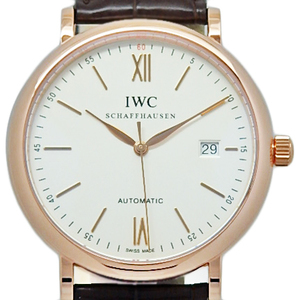 K18pg Iwc Portofino Iw 356504 Men's Automatic Silver Dial Face Watch