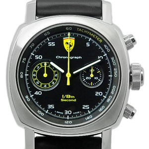 Panerai Ferrari Scuderia Ratragante Fer00025 1/8 Second Men's Automatic Back Skeleton Black Box Wrist Watch