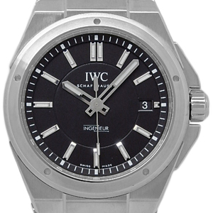 Iwc Inn Jr. Iw 323902 Men's Automatic Black Letter Watch Wrist