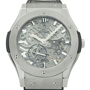 Hublot Classic Fusion Ultrasin 515-nx-0170-lr Titanium Hand-wound Men's Back Scale Gray Skelton Dial Watch