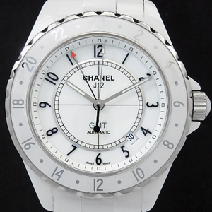 Chanel J12 H2126 White Ceramic Gmt 2000 Limited 42mm Men's Automatic Dial Watch