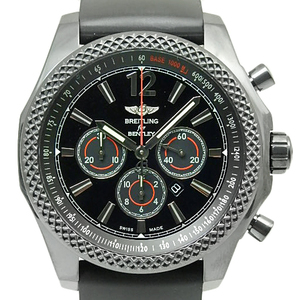Breitling Bentley M41390 Burner Tray 42 Chronograph Midnight Carbon Men's Automatic Black Letter Wrist Watch