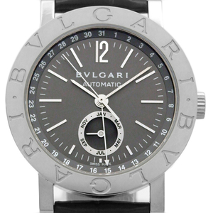 K18wg Bvlgari Bb38glac Annual Calendar Men's Automatic Gray Dial Watch