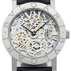 K18wg Bvlgari Bbw 33 Gl Sk Men's Back Scale Automatic Skeleton Dial Watch
