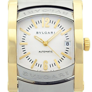 Bvlgari Assioma Ashma Chronograph K18yg / Ss Combination Aa48sg Men's Automatic Ivory Dial Watch