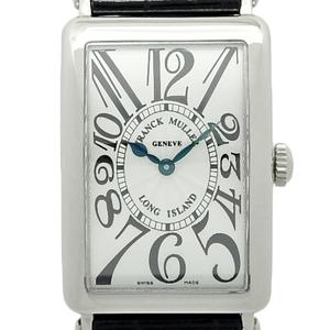 K18wg Rank Muller Long Island 950qzog Ladies' Quartz Silver Dial Watch