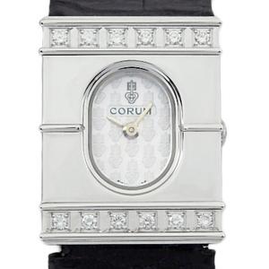 K18wg Corum Diamond Bezel 24.372.69 Quartz Ladies Silver Dial Watch Wrist