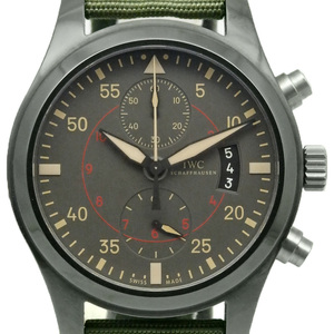 Iwc Pilot Top Gun Miramar Chronograph Iw 388002 Men's Automatic Mat Gray Dial Watch