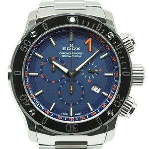 Edox Chrono Offshore 10221 Chronograph Mens Quartz Blue Dial Watch