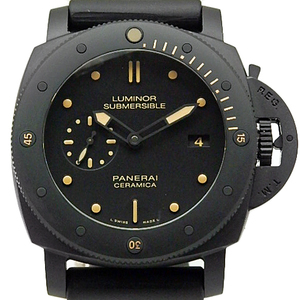 Panerai Luminor Submersible 1950 Ceramica 3days Pam00508 Men's Automaton P Number Black Letter Board Wrist Watch