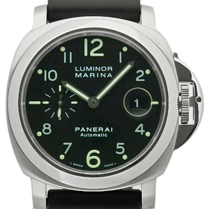 Panerai Luminor Marina Pam00164 Men's Automatum F Number Black Letter Board Wrist Watch